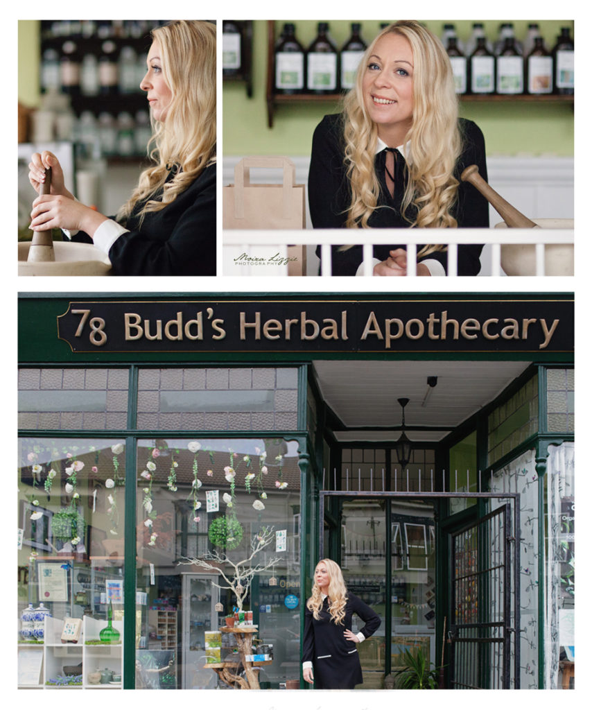 Budds Herbal Apothecary Personal Branding Environmental Headshots by Moira Lizzie Photography