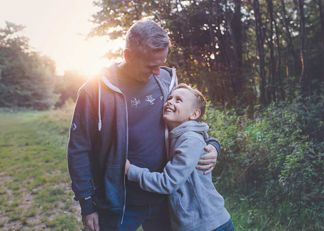 Portrait of father and son at QE Park by Moira Lizzie Photography