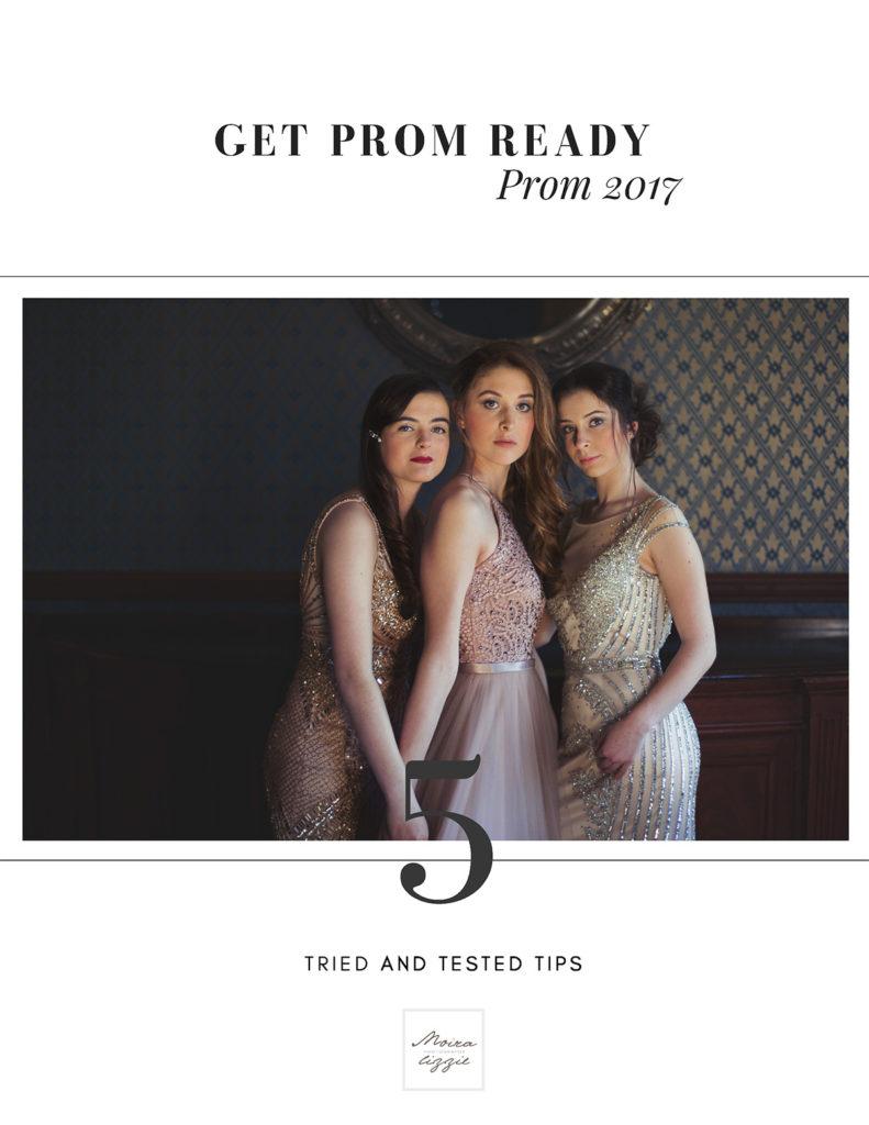 image of three prom ready girls