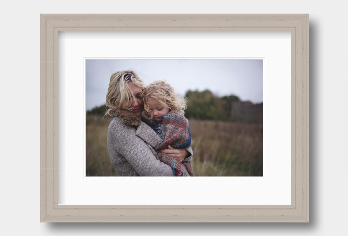 Traditional moulded frame in grey from Moira Lizzie Photography
