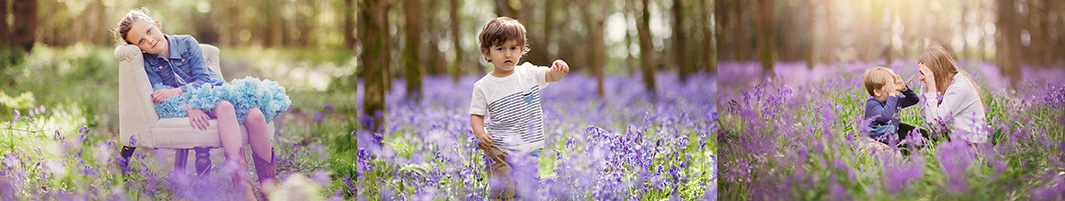 Child portraits in the Bluebells