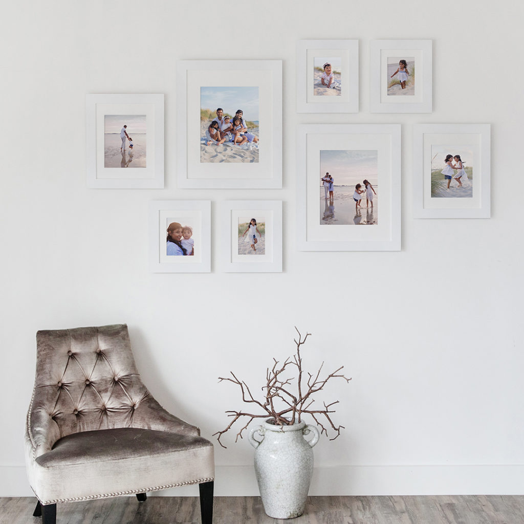 Gallery 4 consisting of 8 framed prints as wall display