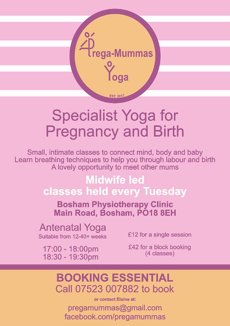 Prega-Mummas Yoga Contact Information