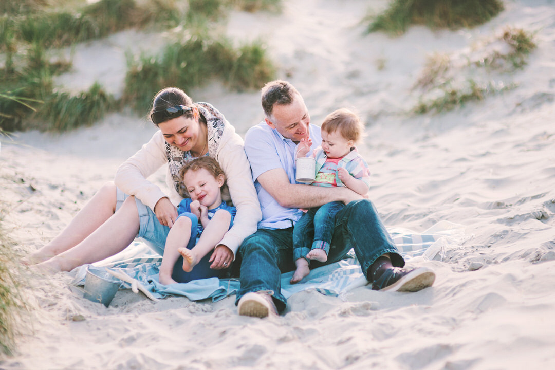 Family photography session in the dunes at West Wittering