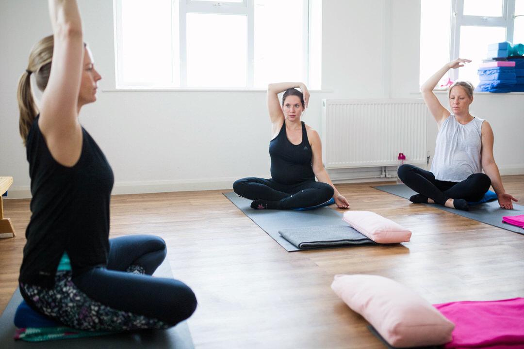 Warm up at Prega-Mummas Yoga class
