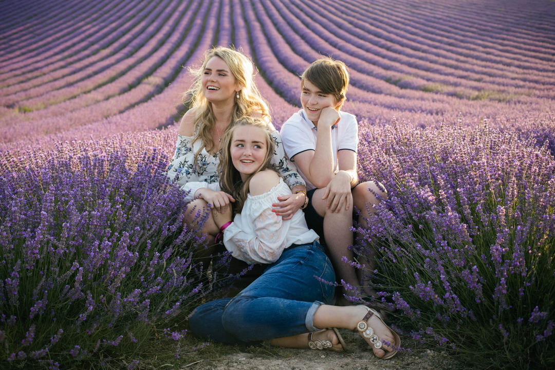 Teenager photo at Lordington Lavender field