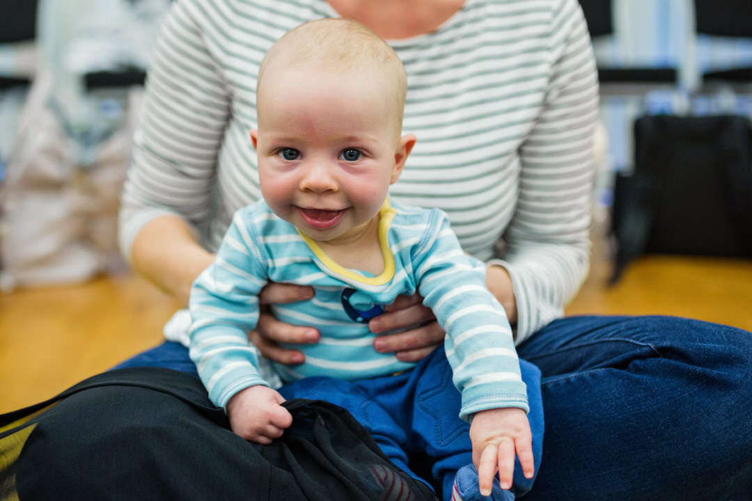Image of baby at Baby Sensory class