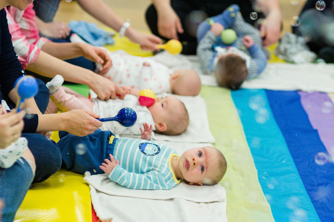 Image of Baby Sensory bubble play