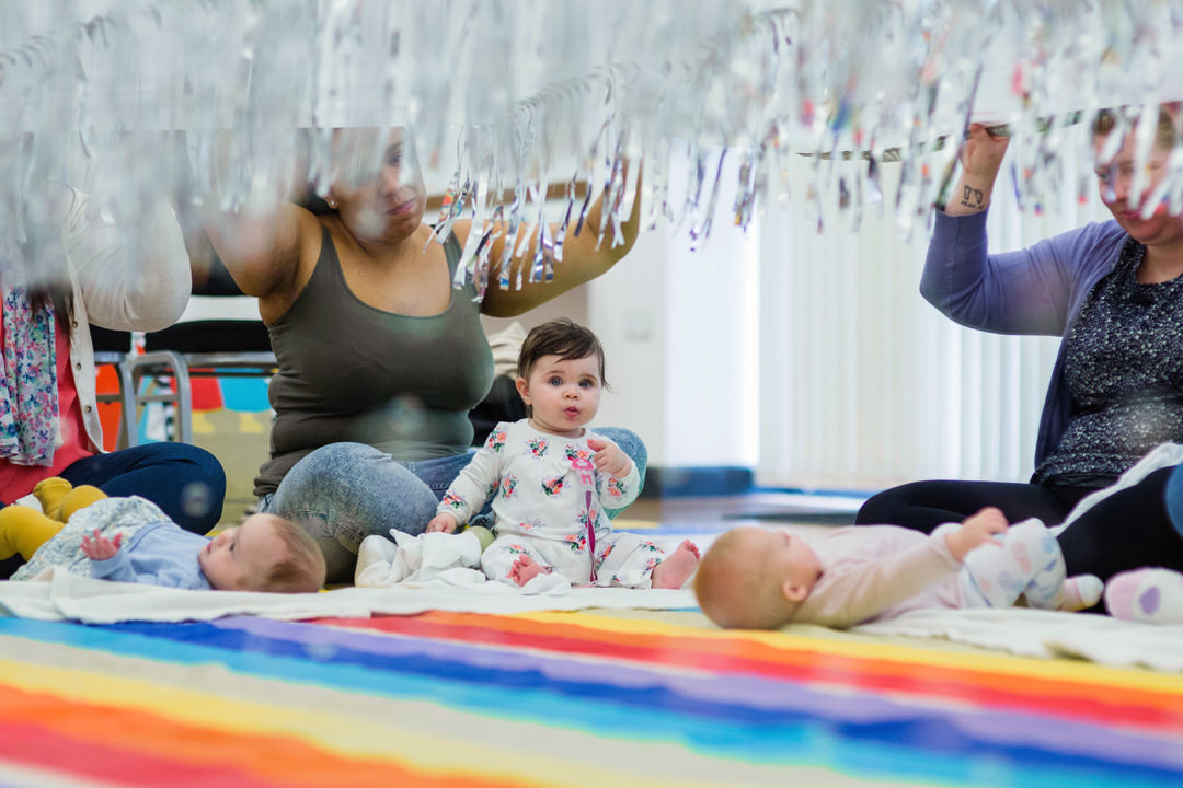 Image of rain themed activity at Baby Sensory Chichester