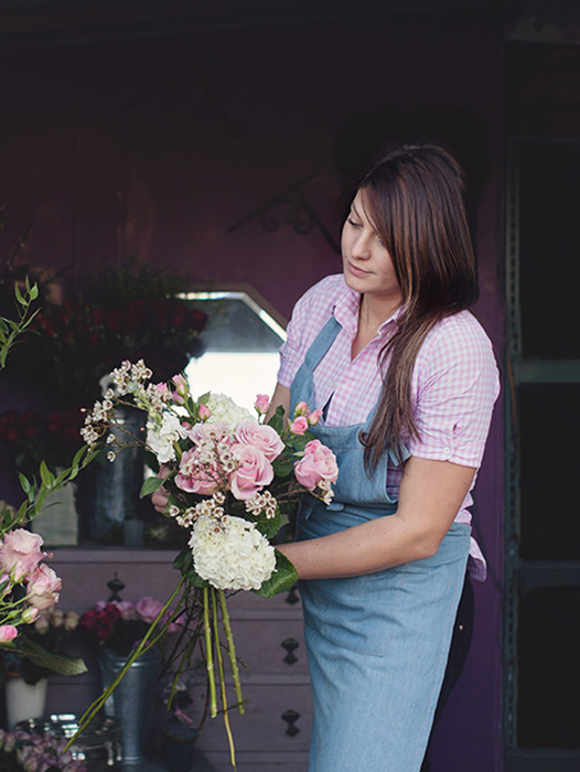 Personal branding session image of Smell The Roses florist by Moira Lizzie Photography