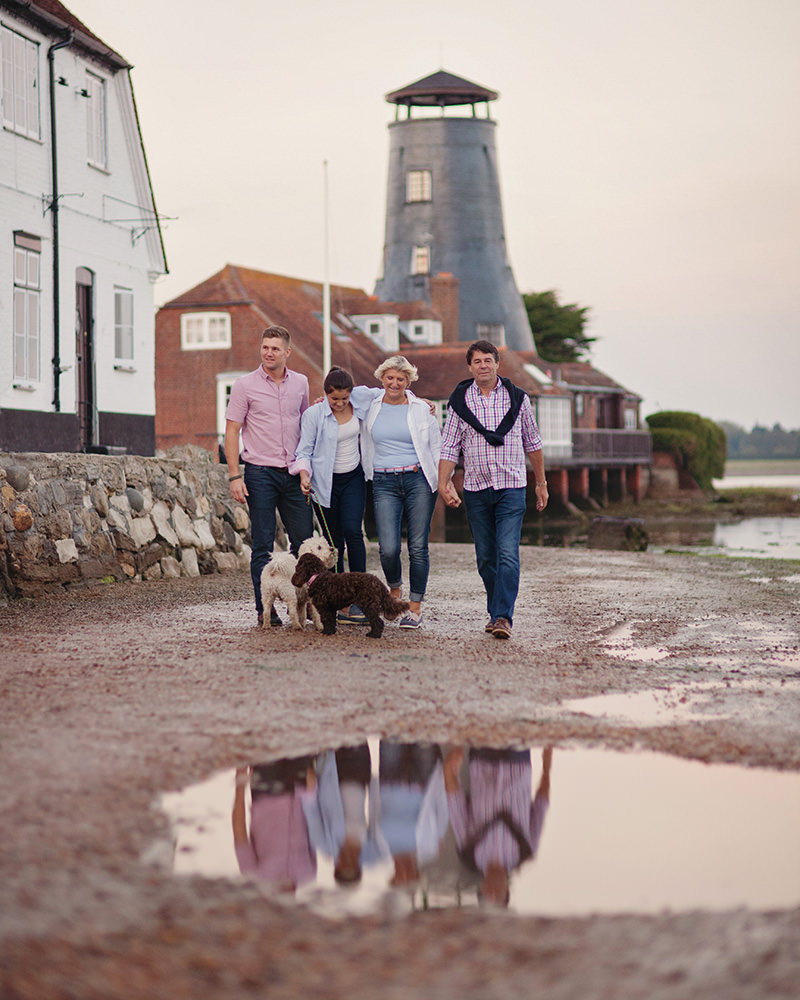 Family walk at Langstone Mill by Moira Lizzie Photography