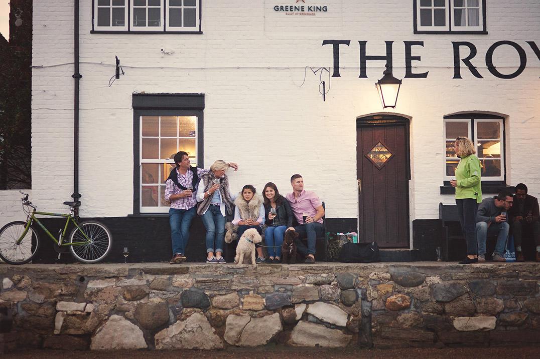 The Royal oak pub at Langstone